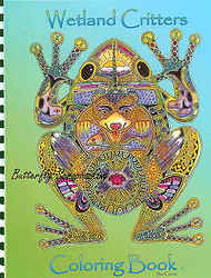Coloring Book Wetland Criters Animal Spirits 15 Pages EARTH ART Sue Coccia New