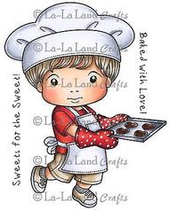 Cookies Luka Stamp Set Cling Unmounted Rubber Stamp La La Land Crafts 5234 New