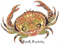 CRAB Animal Spirit Cling Unmounted Rubber Stamp EARTH ART Sue Coccia New