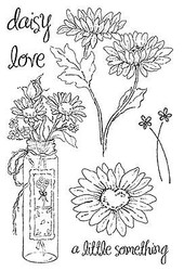 DAISY FLOWERS Clear Unmounted Stamps Set 7 STAMPS Impression Obsession CL251 New