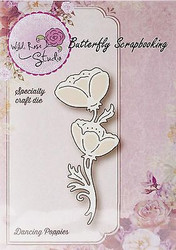 Dancing Poppies Die Creative Steel Die Cutting Dies WILD ROSE STUDIO SD021 New