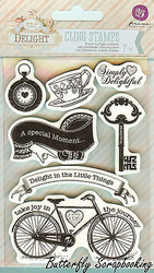 Delight Collection, Cling Unmounted Rubber Stamps PRIMA MARKETING INC. - 950828