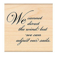 Direct The Wind Text, Wood Mounted Rubber Stamp PENNY BLACK - NEW, 4178H