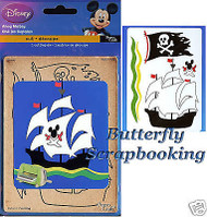 DISNEY PIRATE SHIP Die Cut CUTTLEBUG Cutting Die NEW