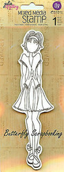 Doll Stamp PRIMA MARKETING INC Cling Foam Unmounted Rubber Stamp NEW, #910266