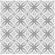Dotted Floral Cover A Card Background Unmounted Rubber Stamp IO Stamp CC172 New