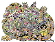 DRAGON Animal Spirit Cling Unmounted Rubber Stamp EARTH ART Sue Coccia New