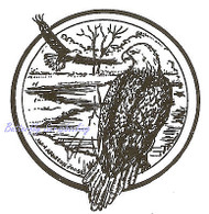 Eagle Birds Circle Wood Mounted Rubber Stamp Northwoods Rubber Stamp CC4654 New