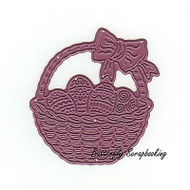 Easter Basket, Steel Cutting Dies CHEERY LYNN DESIGNS - NEW, B526