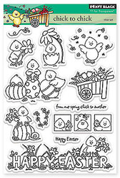 Easter Chick To Chick Clear Unmounted Rubber Stamp Set PENNY BLACK 30-150 New
