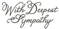 Elegant With Deepest Sympathy, Wood Mounted Rubber Stamp NORTHWOODS - NEW, D2538