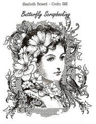 Elizabeth Bennet Mixed Media Cling Unmounted Rubber Stamp IndigoBlu Stamp NEW