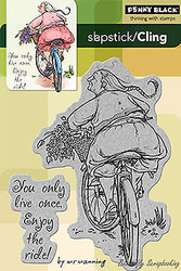Enjoy The Ride, Cling Style Unmounted Rubber Stamp PENNY BLACK - NEW, 40-128