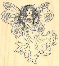 FAIRY Winged Fairy With Wand Wood Mounted Rubber Stamp PENNY BLACK 4351L New