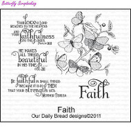 Faith, Cling Style Unmounted Stamp Set DAILY BREAD DESIGNS - NEW, D172