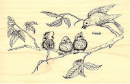 Feeding Time HOUSE MOUSE Wood Mounted Rubber Stamp STAMPENDOUS, NEW - HMP23