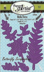 Ferns & Hello Set Craft Die Cutting Dies Hot Off The Press Dies 5333 New
