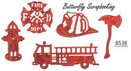 FIRE DEPARTMENT Dies US made Steel Die by Cheery Lynn Designs DIE B538 New