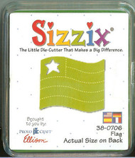 FLAG Small Green Die Sizzix Die #38-0706