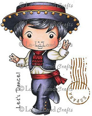 Flamenco Luka Stamp Set Cling Unmounted Rubber Stamp La La Land Crafts 5236 New