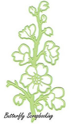 Flower Flowering Sprig Die Steel Craft Cutting Dies by Lea'bilities 45.0560 New