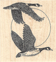 Flying Geese, Wood Mounted Rubber Stamp IMPRESSION OBSESSION - NEW, E1925
