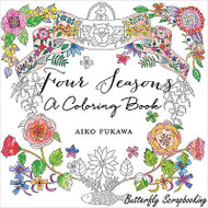 FOUR SEASONS Coloring Book For Markers & Watercolors & Pencils 48 Pages New