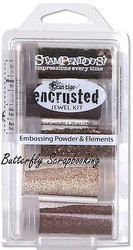 Frantage Encrusted Jewel Kit Collection BRONZE Embossing Element Stampendous NEW