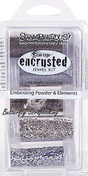 Frantage Encrusted Jewel Kit Collection Silver Embossing Element Stampendous NEW