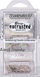 Frantage Encrusted Jewel Kit Collection White Embossing Element Stampendous NEW