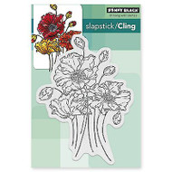 Fresh Flowers Cling Style Unmounted Rubber Stamp PENNY BLACK 40-387 New