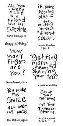 Friendly Advice Kids Quotes Clear Unmounted Rubber Stamps Set INKADINKADO New