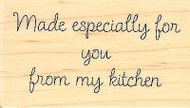 From My Kitchen, Wood Mounted Rubber Stamp IMPRESSION OBSESSION - NEW, C9615