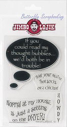 Funny Sayings JIMBO LOJIK Clear Unmounted Rubber Stamps Set JLSG Set G New