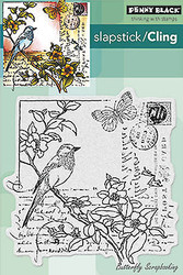 Garden Letter, Cling Style Unmounted Rubber Stamp PENNY BLACK - NEW, 40-277