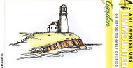 Garden Lighthouse Unmounted Rubber Stamp with Cushion AI Art Impressions NEW
