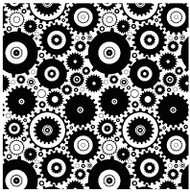 Gears Cogs Cover A Card Background Unmounted Rubber Stamp Impression Obsession N