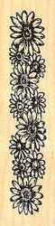 Gerbera Daisy Border, Wood Mounted Rubber Stamp NORTHWOODS- NEW, H9770