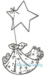 Good Night Baby, Wood Mounted Rubber Stamp NORTHWOODS - NEW, J1140