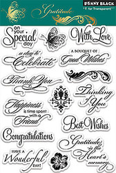 Gratitude Stamp Set Clear Unmounted Rubber Stamp Set PENNY BLACK 30-105 New