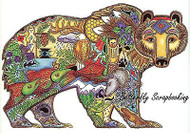 GRIZZLY BEAR Animal Spirit Cling Unmounted Rubber Stamp EARTH ART Sue Coccia New