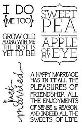 GROW OLD WITH ME Quotes Clear Unmounted Stamp Set Impression Obsession CL565 NEW