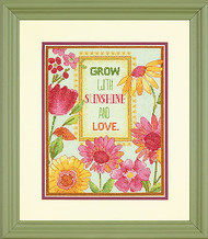 Grow With Sunshine Flowers Counted Cross Stitch Dimensions Cross Stitch Kit NEW