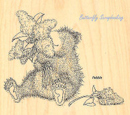 GRUFFIES Bear Lilac Flower Bear Wood Mounted Rubber Stamp STAMPENDOUS HGRW01 New