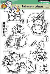 HALLOWEEN Critters Clear Unmounted Rubber Stamps Set PENNY BLACK 30-185 New