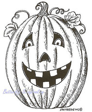 Halloween Jack O Lantern T Wood Mounted Rubber Stamp Northwoods Rubber Stamp New