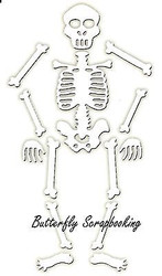 HALLOWEEN SKELETON Die Cutting Die by Impression Obsession DIE312-O New