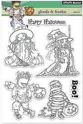 Halloween Stamp Set Clear Unmounted Rubber Stamp Set PENNY BLACK 30-250 New