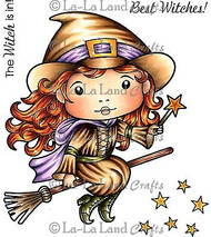 HALLOWEEN WITCH Stamp Set Cling Unmounted Rubber Stamp La La Land Craft 5143 New