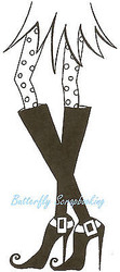 Halloween Witch Stiletto Wood Mounted Rubber Stamp Northwoods Rubber Stamp New